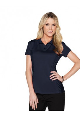 Natalie Knit Jersey Polo with Ruching