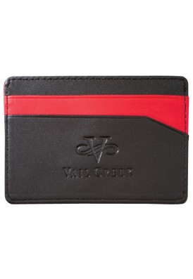 Black and Red Wallet and Card Holder