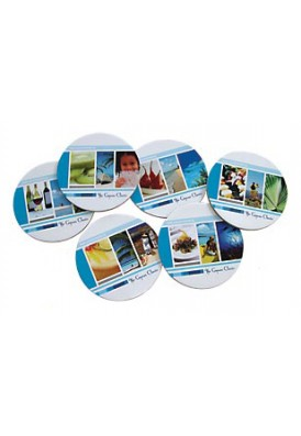 Single Full Color Coasters Round