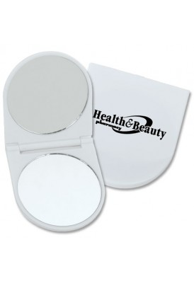 Plastic Rounded Mirror, Full Color Logo