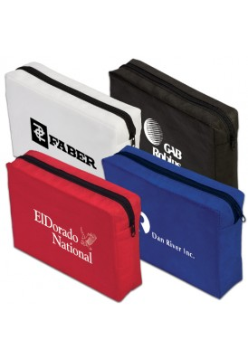 Value PolyPro Non-Woven Zippered Logo Pouch