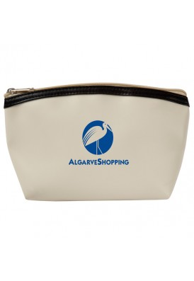 Smooth Matte Vinyl Amenity Bag with Liner and Piping
