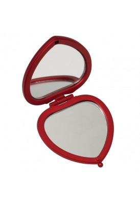 Promotional Red Heart Compact Mirror