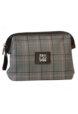 Custom Designer Plaid Dopp Bag