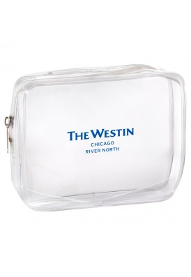 Custom Imprinted Clear Rectangular Zippered Pouch