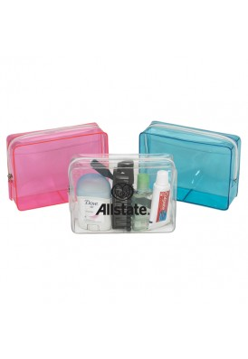 Custom Printed Clear Colored Cosmetic Case