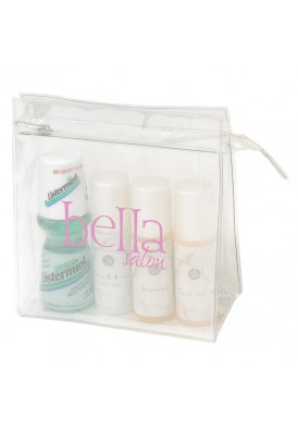 Mesh Accented Clear Travel Case Medium