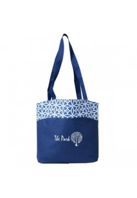 Patterned Panel PolyCanvas Fashion Tote Bag