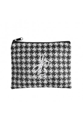 Houndstooth Zippered Make-Up Pouch