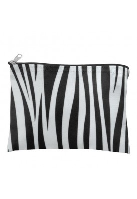 Zebra Zippered Make-Up Pouch