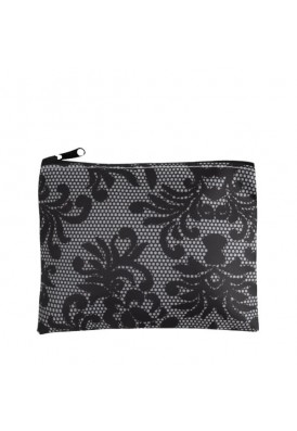 Lace Zippered Make-Up Pouch