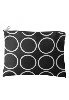Contemporary Rings Zippered Make-Up Pouch