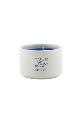 2 Oz White Vessel Candle in Ceramic Jar - VLUE (Value)