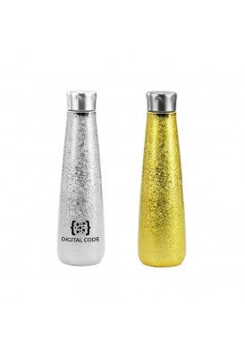 16 Oz Metallic Ice Glitter Bottle in Silver or Gold