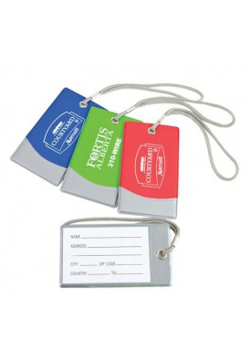 Bright Colors with Silver Trim Luggage Tag