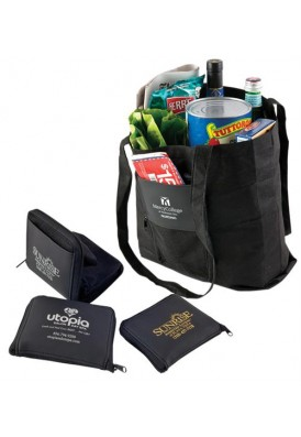 Black Foldable PolyPro Shopper Tote