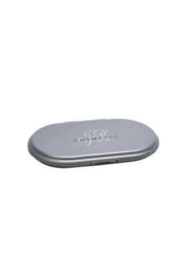 Simple Oval Flip Lid Compact Mirror