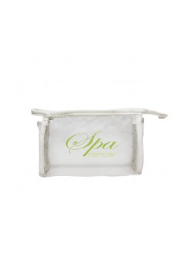 Simple White and Clear Vinyl Pouch