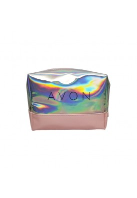 Iridescent Holographic Zippered Travel Dopp Kit Case II