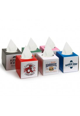 Mini Tissue Box Printed in Full Color